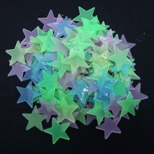 100pcs/bag 3cm Glow in the Dark Toys Luminous Star Stickers Bedroom Sofa Fluorescent Painting Toy PVC for Kids Room