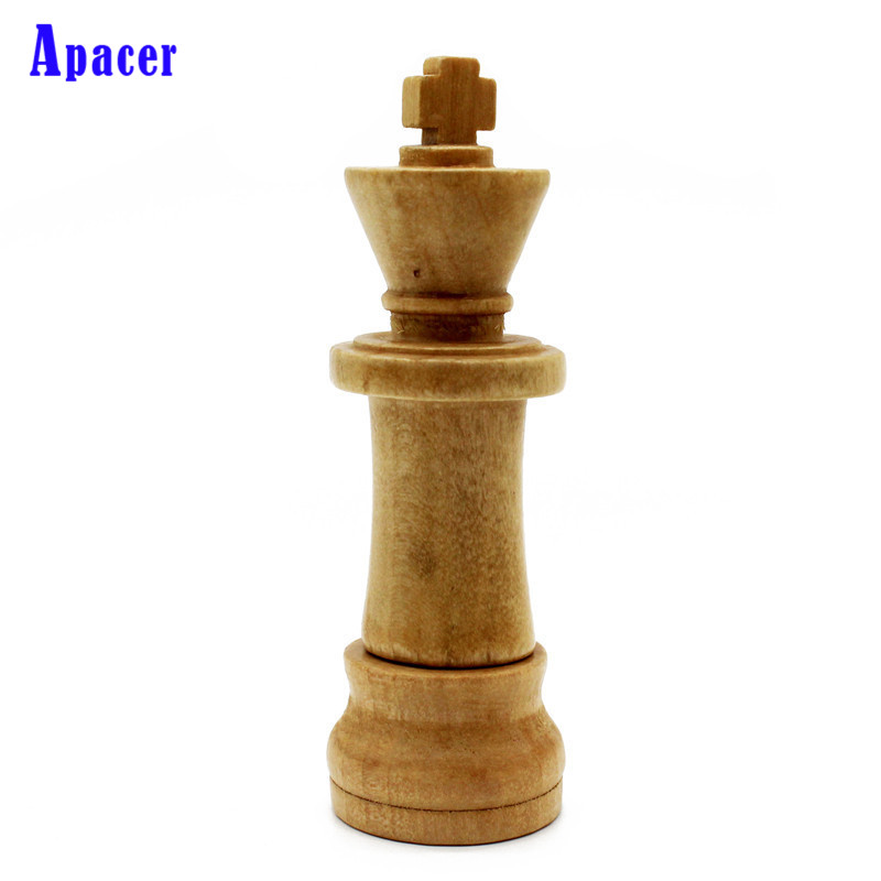 Apacer New wooden international chess u disk game chess pendrive 4GB 8GB 16GB 32GB USB flash drive