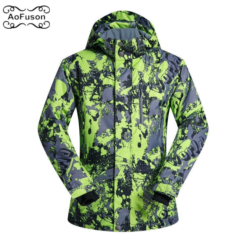 Outdoor Ski Jacket Men Warm Wateproof Snow Snowboarding Hiking Jackets 2019 New Male Winter Skiing Coats Hoodie Wear Clothing цена