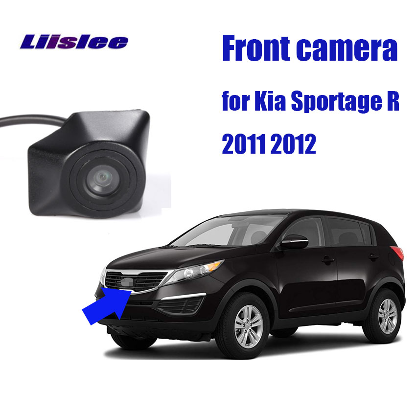 LiisLee Waterproof CCD Cars Front Logo Parking Camera For Kia Sportage R 2011 2012 Night Vision High Quality HD