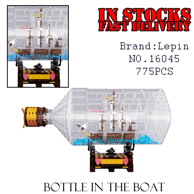 New Lepin 16045 775pcs Creator Series The Ship in the Bottle Set Building Blocks Bricks Toys for children gifts brinquedos lepin 16045 genuine 775pcs creative series the ship in the bottle set building blocks bricks toys model gifts