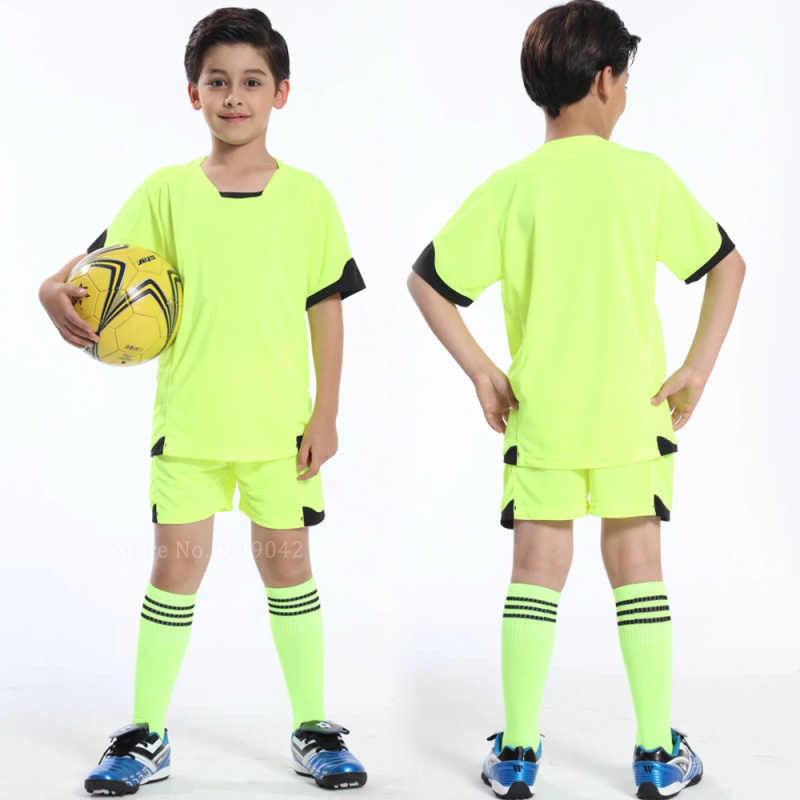 beced365b High quality child soccer jerseys sets suit 2017 survetement Football Kits kids  youth football jersey uniforms