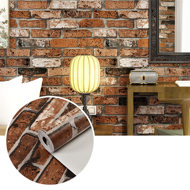 3d stereo brick wallpaper for wall living room hotel wall paper sticker roll background wallcoverings decoration - Brick Hotel Decoration