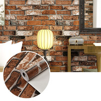 3D Stereo Brick Wallpaper For Wall Living room Hotel Wall Paper Sticker Roll Background Wallcoverings Decoration 53x1000cm