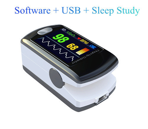 Pulse oximeter CMS50E, CE and FDA approved Blood Oxygen Oxymetry, SPO2 monitor with software + USB + sleep study high quality ce fda blood glucose meters monitor blood sugar diabetics test glycuresis monitor 50 strips 50 needles