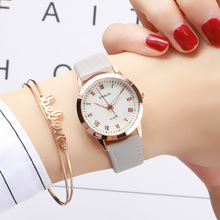 Simple Gold Women Leather Watches Elegant Small Bracelet Fem