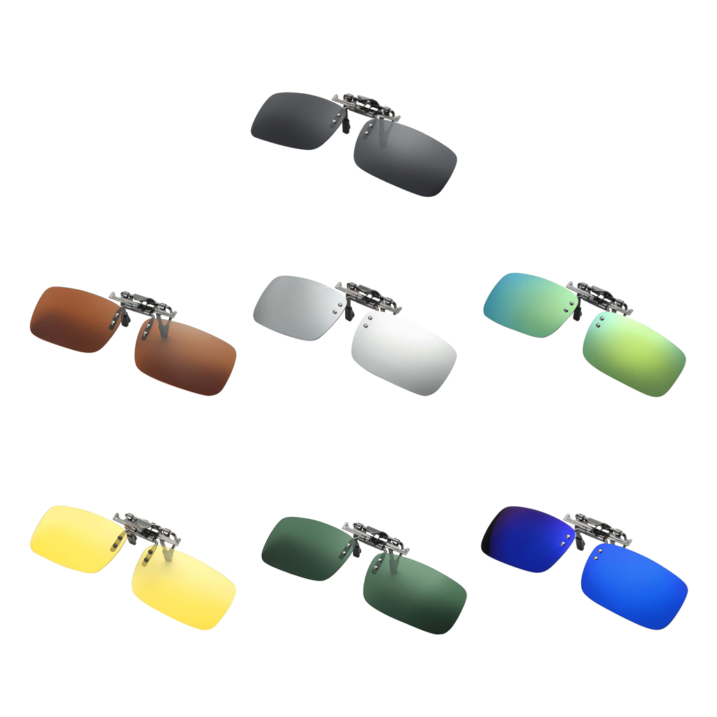 Men Women Clip on Night Vision Glasses Clip UV400 Lens Flip up Myopia Night Vision Sunglasses Polarized for Car Driving in Men 39 s Night Vision Glasses from Apparel Accessories