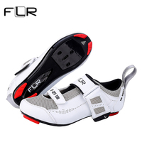 FLR Cycling Self Locking Shoes Triathlon Professional Breathable Ultralight Road Bike Shoes Racing Athletic Bicycle Sneakers