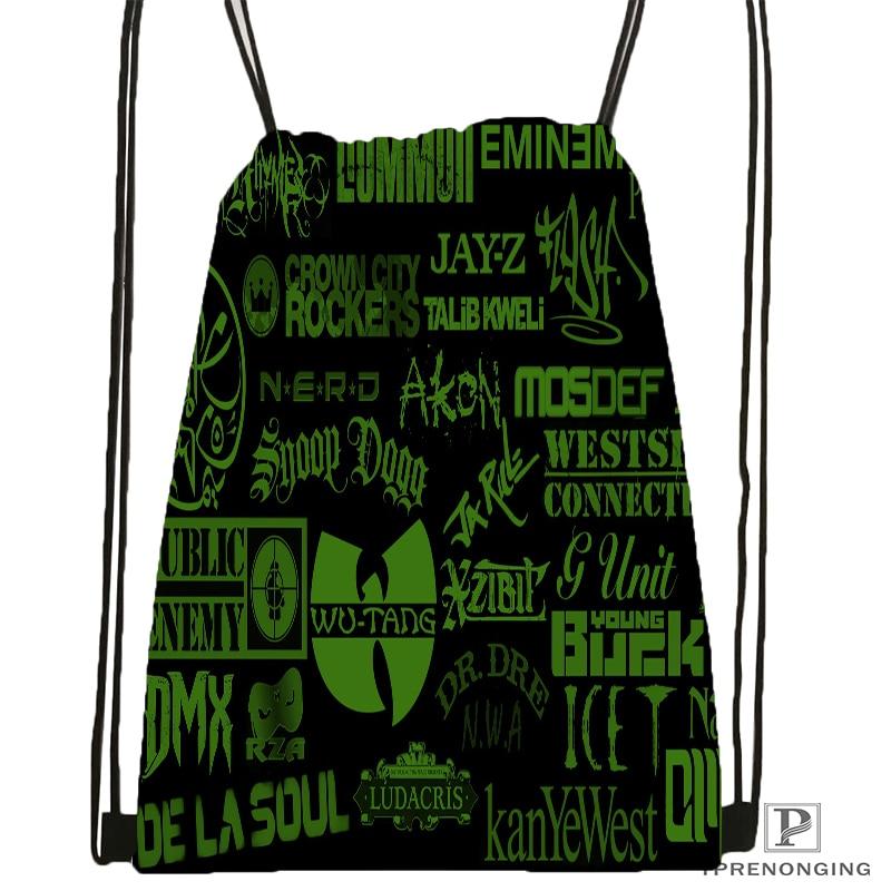 Custom Wu Tang Clan Drawstring Backpack Bag Cute Daypack Kids Satchel Black Back 31x40cm 180531 03