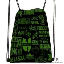 Custom Wu Tang Clan Drawstring Backpack Bag Cute Daypack Kids Satchel (Black Back) 31x40cm#180531-03-51