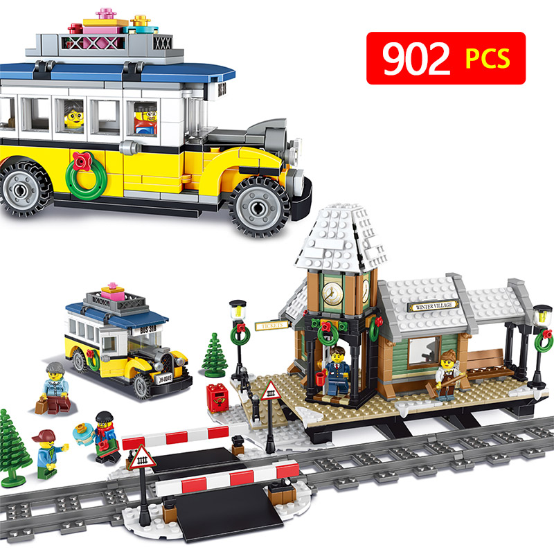 902pcs Creator series Compatibe with LegoINGLYS The Winter Village Station Model Building Blocks architecture Toy for children furuyama m ando modern minimalism with a japanese touch taschen basic architecture series