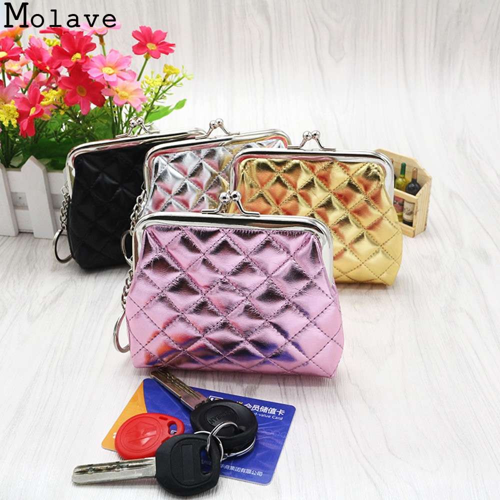 2017 New Fashion Womens Lady Plaid Small Wallet