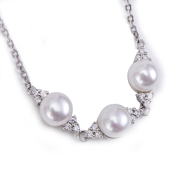 [YKIN] New Fashion Bracelet 925 Sterling Silver Jewelry Natural Freshwater Pearl Bracelet
