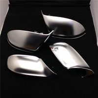 4pcs/set ABS Chrome Side Wing Rearview Rear View Mirror Replacement Cover Trim Case Shell For AUDI A7 S7 RS7 4G 2010 2015
