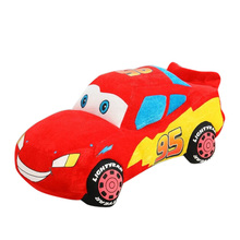 Disney Toy Story Car Styling Lighting McQueen Pillow Cushion Globos Minifigures Red Pixar Toys Anime Plush Stuffed  Kids Gift