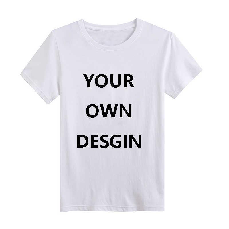 15928c32c16 Custom Tshirt Men Print Your Own Design logo Picture Short Sleeve Summer  White Casual T shirt Tee Tops Shirt Homme Mens Clothing