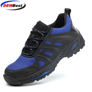 Image 2 - DEWBest дышащая сетчатая защитная обувь мужские легкие кроссовки небьющиеся стальные носочки мягкие Нескользящие рабочие ботинки