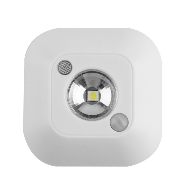 1pc New Mini Wireless Infrared Motion Sensor Ceiling Night Light Battery Powered Porch Lamp Brand New