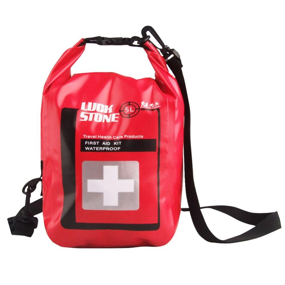 Red 5L Waterproof Shoulder Bag Anti-dirt Storage Bag for Emergency Supplies Outdoor Camping Climbing Bag Backpack