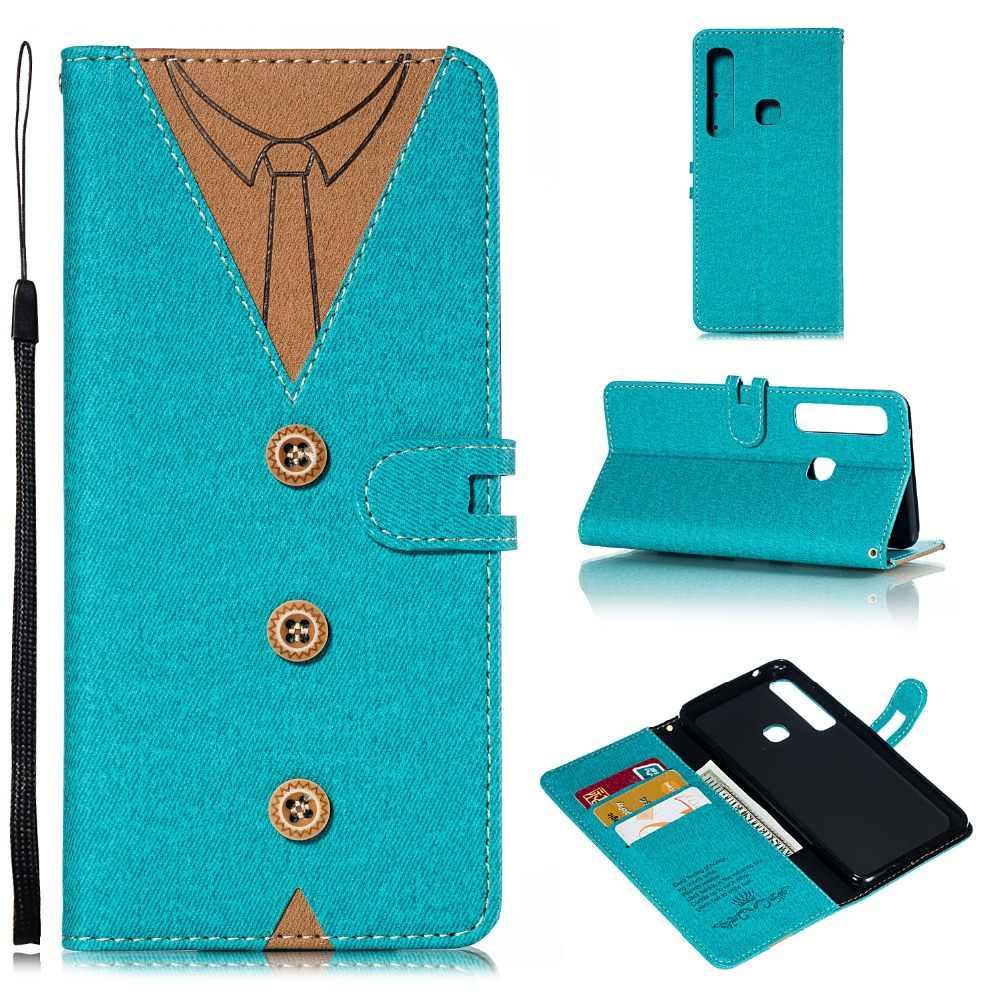 Etui portefeuille en cuir pour homme pour Sony Xperia XZ3 Galaxy (A7 A750 A9 J4 J6 Plus) 2018 étui à rabat porter Coque Bowknot peau 1 pièces
