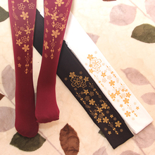 Japanese cute princess sweet lolita tights hot stamping printing gothic lolita pantyhose kawaii girl loli cos princess sweet lolita gothic lolita shoes lolita cos punk wedges increased women s shoes deep red 9101