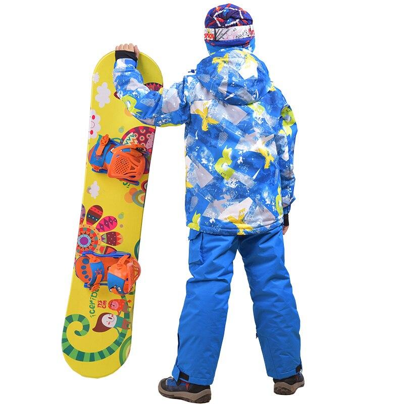 スノーボードジャケットとパンツ 110 160 子供の冬セットスポーツ防風防水暖かいコート雪スキーのスーツ  グループ上の スポーツ & エンターテイメント からの スキー ジャケット の中 2