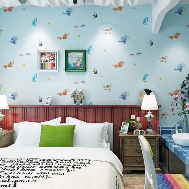 Finding Nemo Room Decor.Us 32 9 Hot Selling Fish Finding Nemo Underwater Kids Room Decor Wallpaper Rolls Wallpapers Papel De Parede Cartoon Wallpaper 53x1000cm In