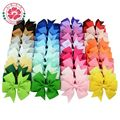 40pcs 40 Colors Baby Grosgrain Ribbon Bows WITH Clip Girls' Boutique PinWheel Hair Clip Kids Hair Accessories 564