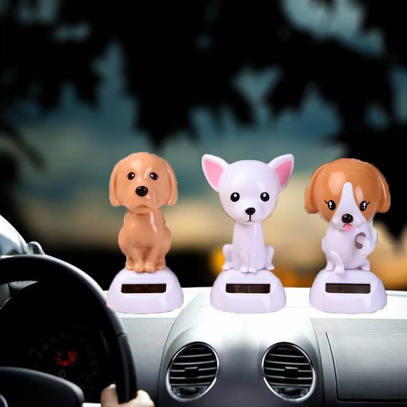 New car doll ornaments dashboard toys cartoon plastic dog car