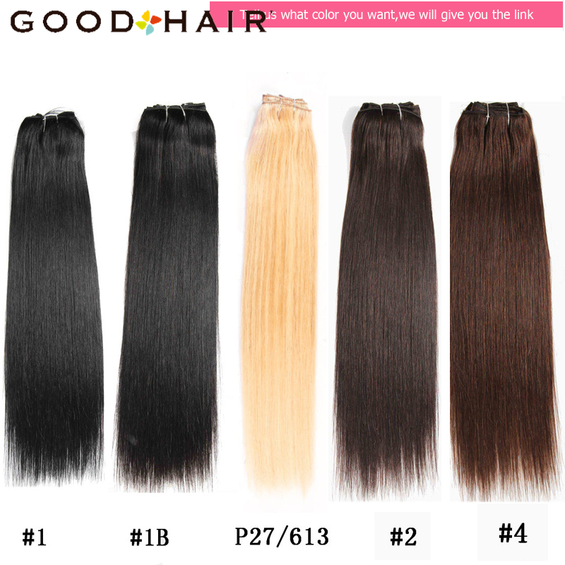 GOOD HAIR Straight Clip In Human Hair Extensions Қара - Адам шашы (ақ) - фото 5