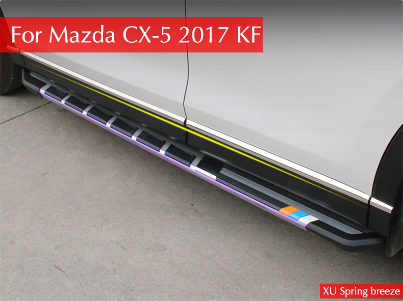 For Mazda CX-5 CX5 KF 2017 2018 Car Door Body Side ProtectionTrim Strip Decoration Anti-rub Car styling for mazda cx 5 cx5 2017 2018 kf 2nd gen car co pilot copilot stroage glove box handle frame cover stickers car styling