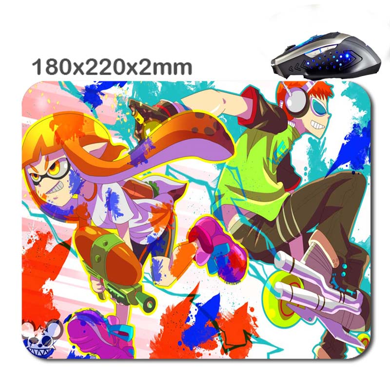 180*220*2mm Hot splatoon 3D Print New Arrival High Quality Durable Computer Rubber Soft Gaming Anti-Slip Laptop PC Mouse Pad