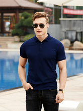 Summer Breathable Slim Cotton Male Short Sleeve New Brand Polo Shirt Men High Quantity Solid Business Casual Mens Clothing