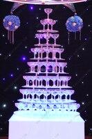 Свадебные винная башня, семь ярусов в форме сердца Arcrylic шампанского башни, праздничных вечеринок