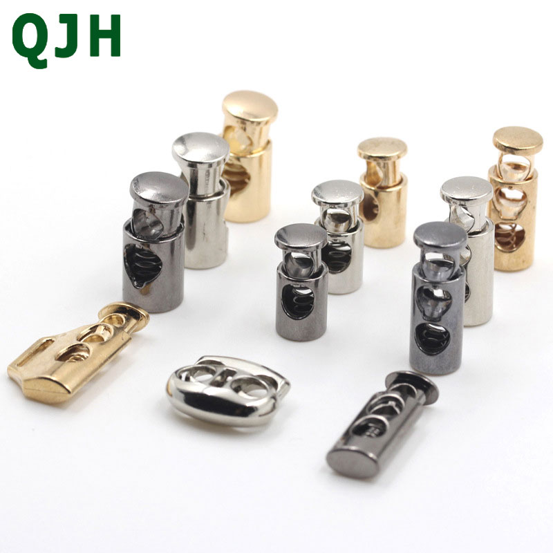 10pair Metal Color Stopper DIY Apparel Sewing Accessories Metal Clamp Stopper Cord Lock Toggle Clip Stopper Rope lock