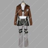 Бесплатная доставка заказ Дешевые Эрен костюм атака на Титанов Косплей