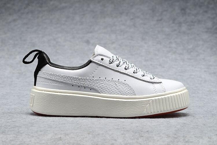 2018 PUMA Womens Basket Platform Metallic Sneaker Rihanna classic color tone simple Badminton Shoes Size 35.5-39