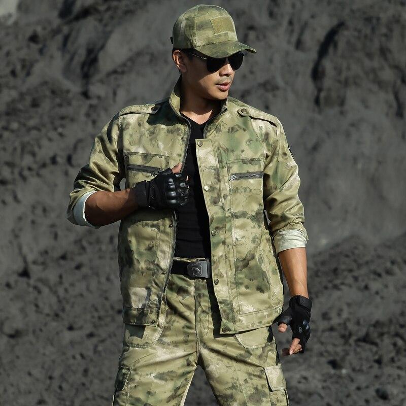 Uniforme militar multicam camuflagem ternos roupas de caça dos homens tático força especial ropa caza uniformes combate ghillie terno