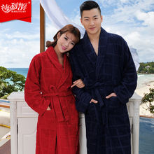 100% terry cotton dark color bathrobes  thickening robe comfortable home robe