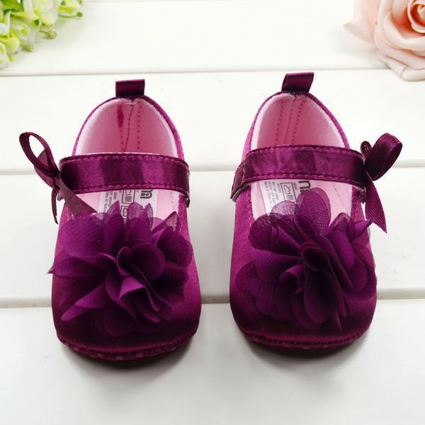 7b19f6a6c3df YK Loving 2Pairs Princess Baby Shoes Girl Infant Rose Flower Soft Sole  Leisure Baby First Walker Rose ...