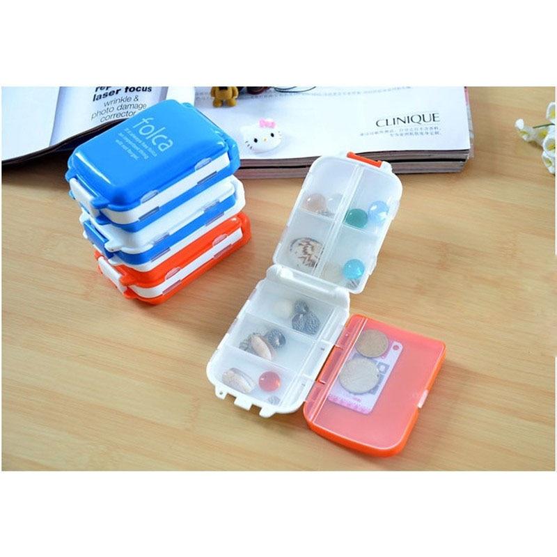 1Pcs Portable Mini Pill Case Weekly Sort Folding Vitamin Medicine Pill Box Makeup Storage Container Home Fashion Creative Style
