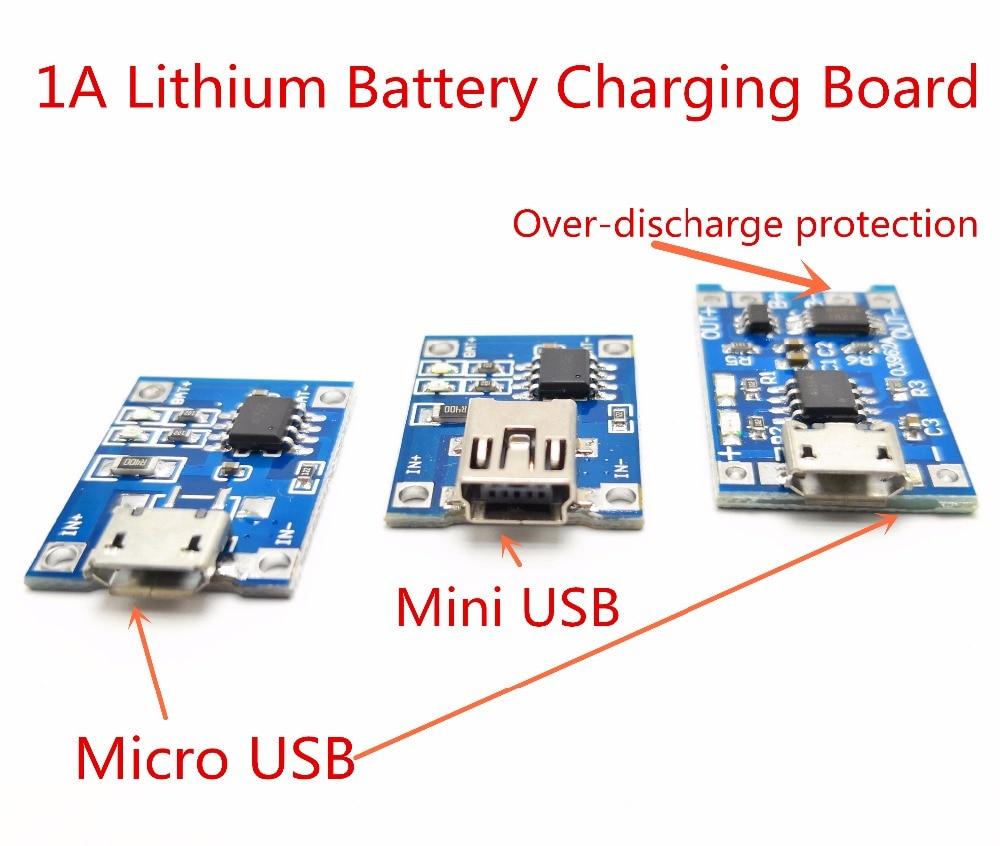 2PCS 5V 1A 1S 3.7V Li-ion 18650 USB Input Port Lithium Battery Charging Module