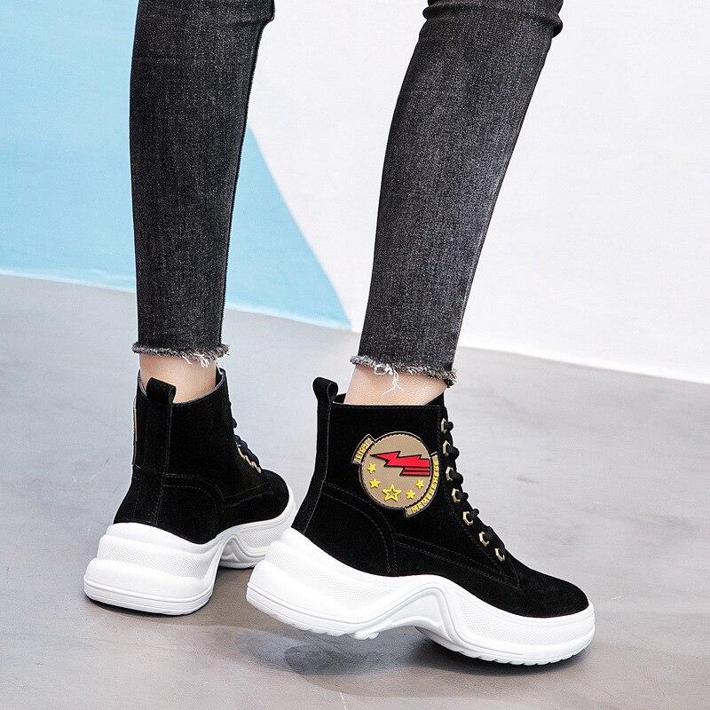 Jookrrix Plate Casual Chaussure forme De Femmes Femelle Automne Style Dame  Martin Mode Chaussures Marque marron Noir Britannique Bottes Botas 6Pwx6EAqr bc6f66166e6e