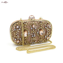 Moccen 2017 Luxury Handbags Lady Wallet Designer Beaded Purses And Handbags Lady Clutch With Long Chain