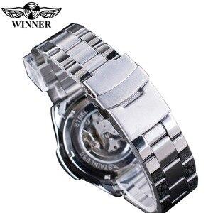 Image 5 - Мужские наручные часы Winner Sport, дизайнерские золотые часы с ободком, роскошные часы от топ бренда Montre Homme, Мужские автоматические часы в стиле стимпанк со скелетом