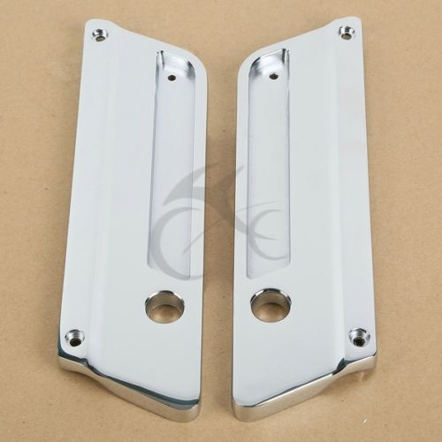 Metal Chrome Saddlebag Latch Covers for Harley Touring Road King Electra Glide abs hard saddlebags latch keys for harley road king electra street glide 14 18