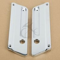 Metal Chrome Saddlebag Latch Covers for Harley Touring Road King Electra Glide