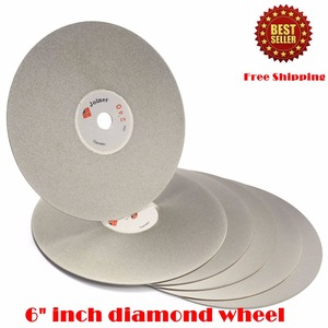 """Image 5 - 6"""" inch 150 mm Grit 60 3000 Diamond Grinding Disc Abrasive Wheel Coated Flat Lap Disk for Gemstone Jewelry Glass Rock Ceramics"""