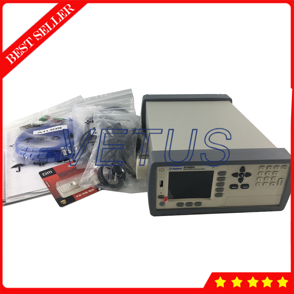 AT4524 24 Channels Temperature Meter Data Logger LCD Display Temperature Recorder With J K T E S N B R thermocouple type