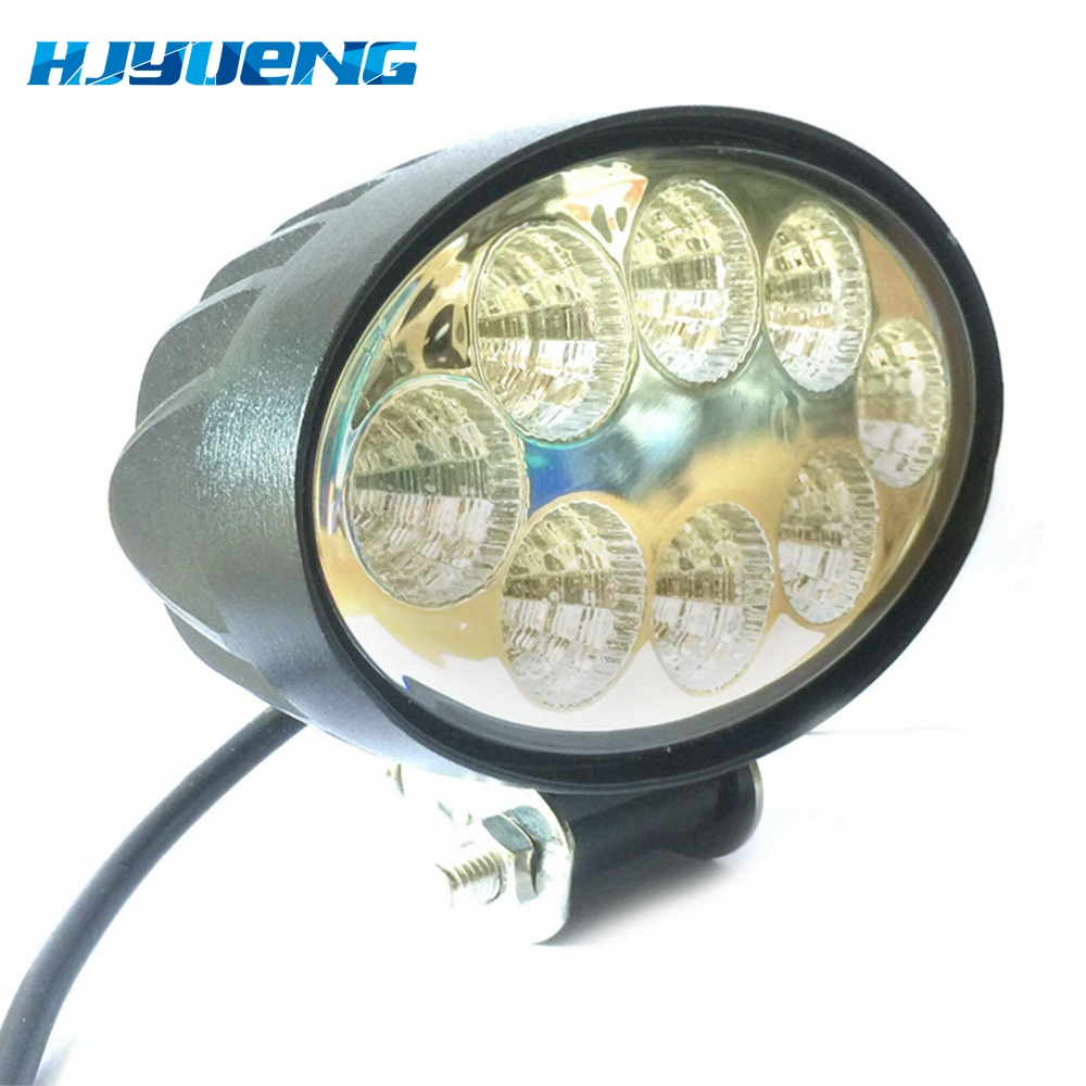 5.5 inch 12V 24V 24W off road Flood Oval LED Work Light Lamp for car Truck Vehicle Driving Boat Led Flood Light-in Light Bar/Work Light from Automobiles & Motorcycles